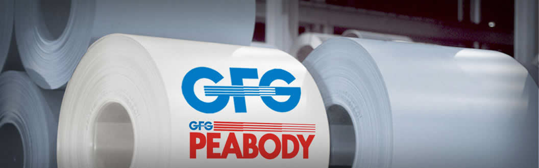 image of GFG-Peabody logo on steel coils